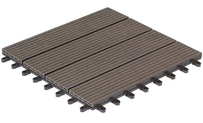 EVERFLOOR WPC (=Holz/Kunststoff-Gemisch) Terrassenfliesen