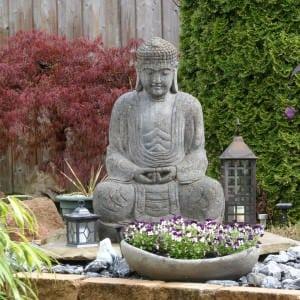 Zen-Garten als dekorativer Blickfang