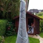 Gartenfreude Schutzhülle PE für Sonnenschirm, groß, 170 x 45 / 20 cm, grau